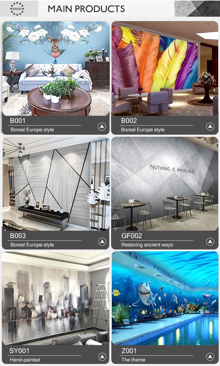 Dekorasi Rumah HD Latar Belakang TV 3D Wallpaper Pantai dan Pohon Kelapa