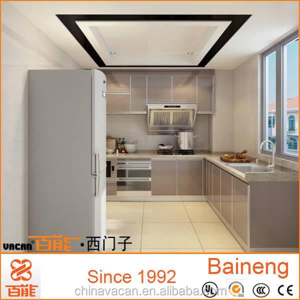 L bentuk 3d desain kabinet dapur kaca tempered untuk for Software diseno de cocinas 3d
