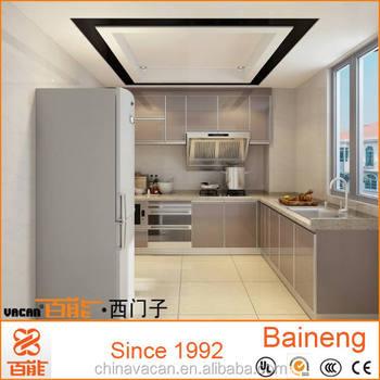 L forma 3d dise o del gabinete de cocina vidrio templado para gabinetes de cocina buy product - Diseno cocina 3d ...