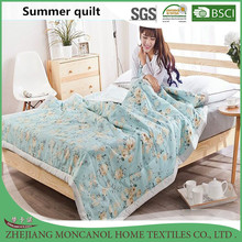 Top wholesaler 100% cotton thin printed summer quilt/comforter