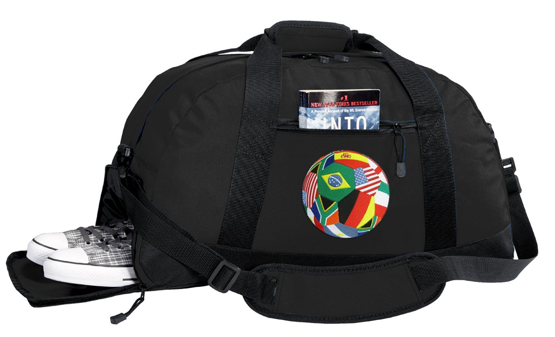 0c3c444da2 Get Quotations · Soccer Duffel Bag - World Cup Fan Gym Bags w  SHOE POCKET