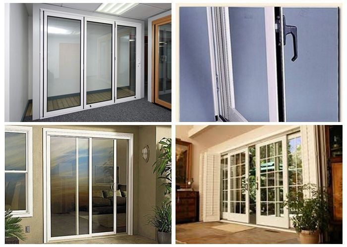 Upvc 3 panel sliding shower door sliding glass door buy for Upvc sliding glass doors