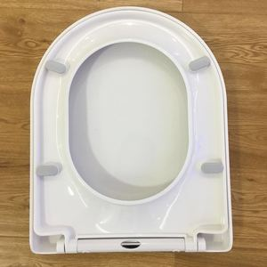 UK style Bathroom accessory set Closed front round PP toilet seat cover