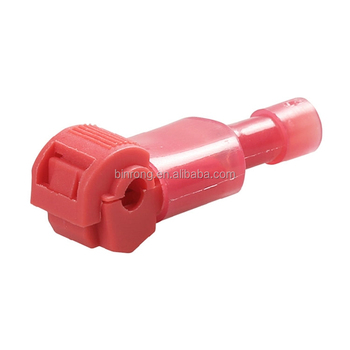 Red T-tap Nylon Self-stripping Female Quick Splice Connector Fully ...