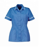 Wholesale Europe hot selling good quality healthcare medical nurse tunic scrub top