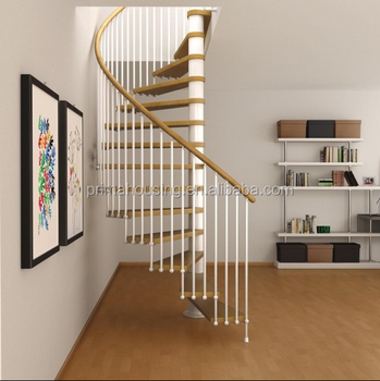 New Design Spiral Staircase Components Wood And Iron Stairs Railing Spiral  Staircase Sale