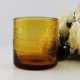 New Design Cheap Amber Printed Glass Cup