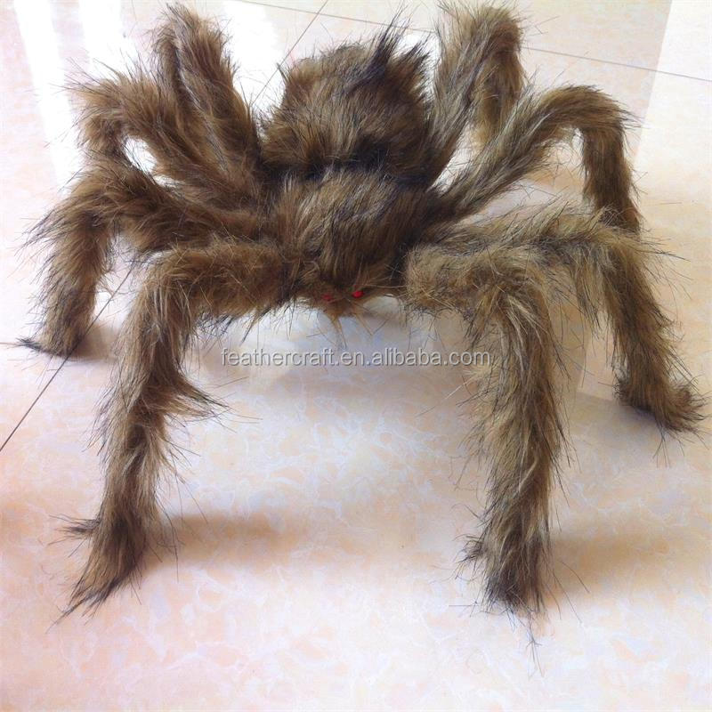 New design giant plush halloween spider hanging decoration
