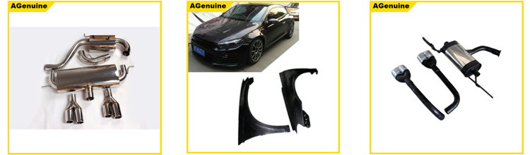 304 Stainless steel emission silencer system exhaust kit with end pipes for Volkswagen VW Scirocco 1.6 displacement