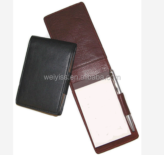 High quality office memo pad leather cover mini size