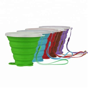 New innovative product FDA silicone coffee collapsible foldable cup cover