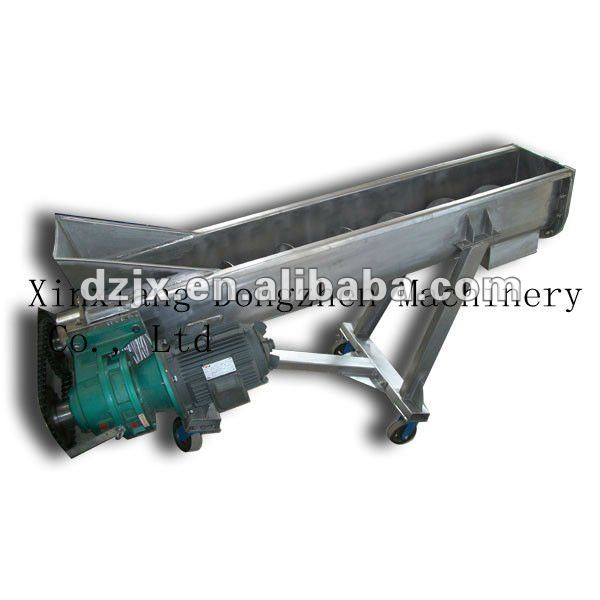 DZ Stainless Steel series Spiral Chute Auger Conveyor with Hopper