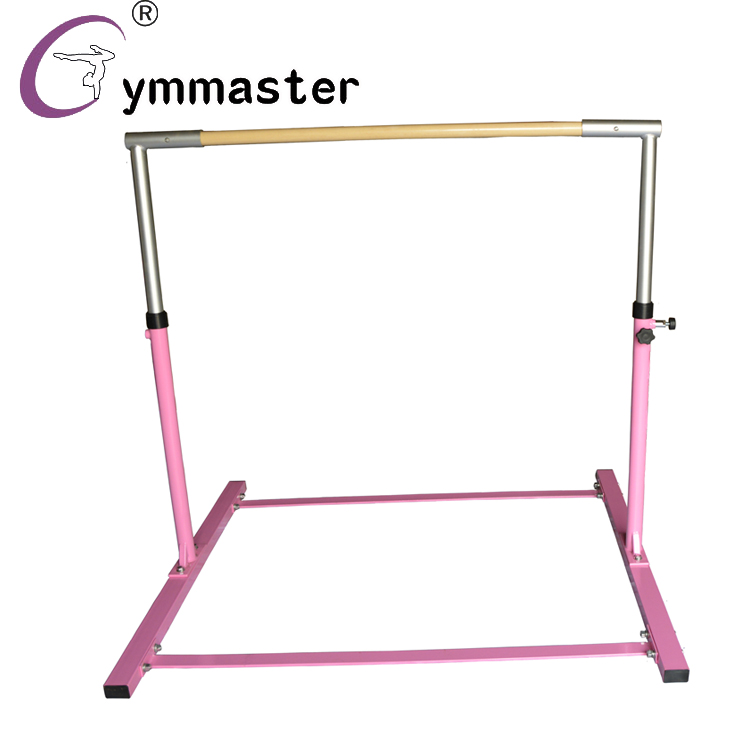 gymnastics height adjustable horizontal kids trainning bar with CE certification