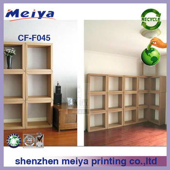 Corrugated Cardboard Wall Mount Storage Cabinet,Paper Display Unit ...