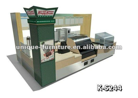 18x10ft Wooden Fast Food Service Snack Kiosk
