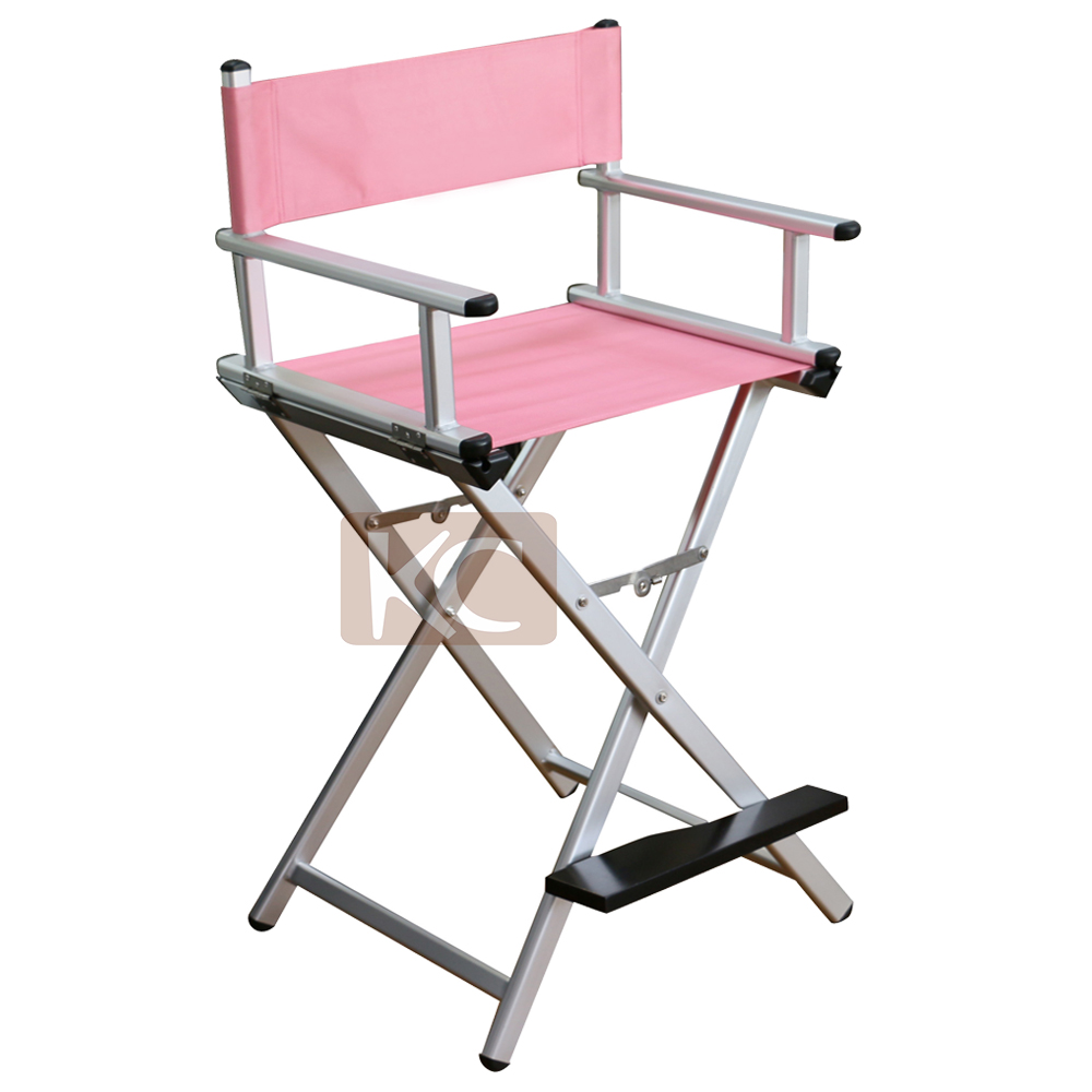 Custom Makeup Salon Lightweight Aluminum Folding Director Makeup Chair