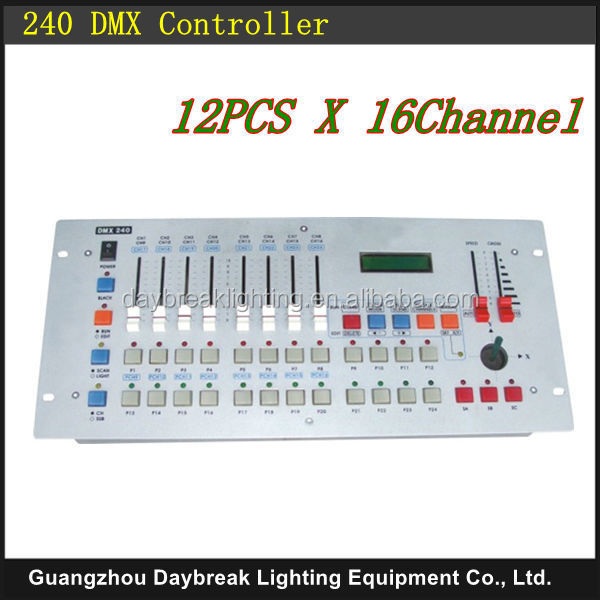 24 channels disco 240 dmx controller for dj disco party stage dmx lighting, 240 DMX controller dj console