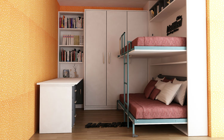 Wall bunk bed double decker, View double decker bed design ...