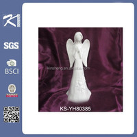 new product white porcelain christmas angel Figurine crafts for decoration