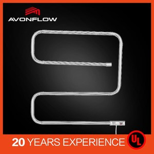 AVONFLOW AF-UR01008 Wall Mounted Electric Heating Wire Chrome Towel Rack