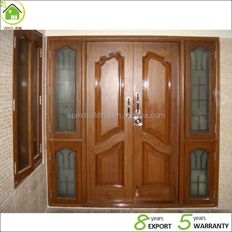 Puertas de madera de teca de birmania principales modelos for Modelos de puertas principales