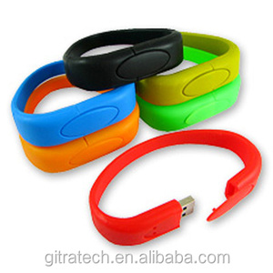 Bulk Cheap 8GB Silicone Bracelet Wristband 2.0 Usb Flash Drive