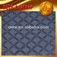 cow flocking leather fabric raw material to make sandals textile leather products