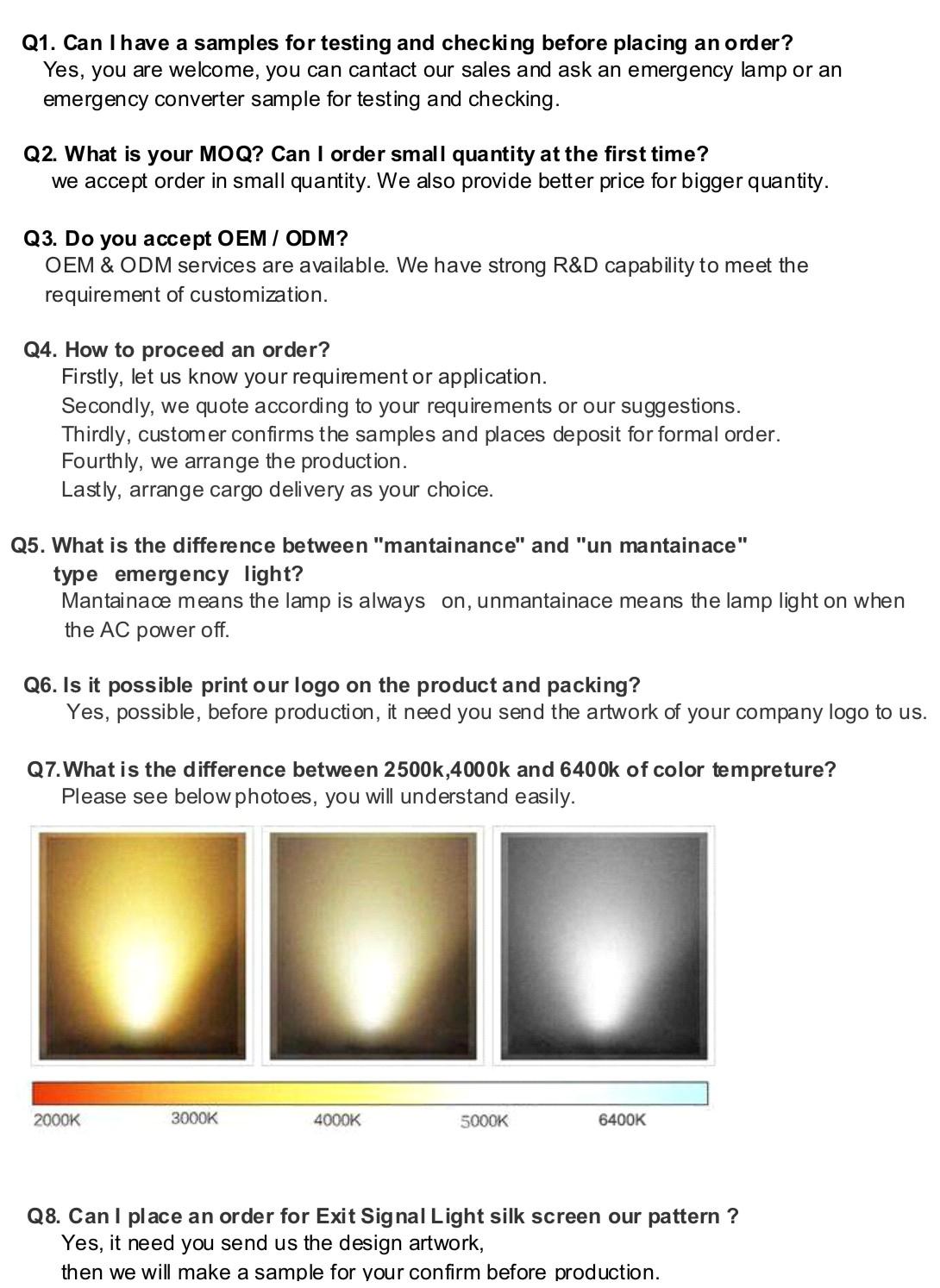 Kualitas Tinggi IP65 Tahan Air LED Emergency Lampu Plafon/Darurat Lampu Langit-langit