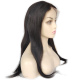 "Zhongfa ready to ship 18"" dark color Indian virgin hair natural straight lace front human hair lace wigs"