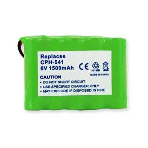 Panasonic TYPE 34 Cordless Phone Battery Ni-MH, 6 Volt, 1500 mAh - Ultra Hi-Capacity - Replacement for Panasonic HHR-P516A, Rechargeable Battery