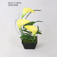 High Quality Cheap Yellow Calla Lily Artificial Flowers in pot