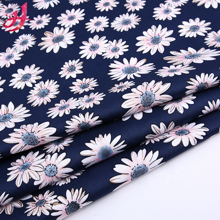 Polycotton Fabric Daisies Floral Flower Heads Daisy