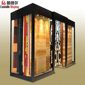 Digital Stand For Carpet Showroom Design Pvc Racks Rug