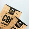 Recycled Custom Printed Craft Paper Pouch With Zip lock For Hard CBD Candy / 250mg CBD Paper