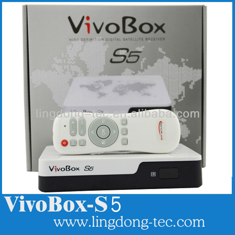 New satellite receiver vivobox s5/az america s1001 DVB-S2 android 4.2 tv box with iks sks iptv free for Brazil