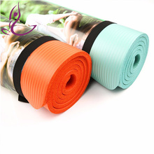 Logo printed exercise fitness yoga mat india durable nbr yoga mat