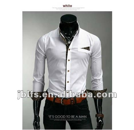 2012 fashion slim fit Koreaanse stijl shirt