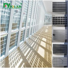 Chinese Best 5%-50% Transparent Solar Panel BIPV For Building