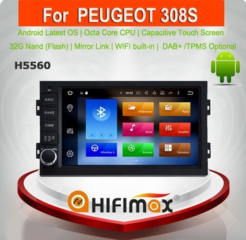 hifimax android 6 0 car navigation for peugeot 308 308s android interface for peugeot 308. Black Bedroom Furniture Sets. Home Design Ideas
