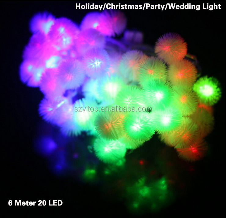 LED Christmas Light 6 Meter 20 Led String Light Lamp RGB for Holiday Wedding Party Indoor Outdoor Decoration Brand New