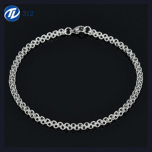 New Fashion High Polished Silver Stainless Steel Bracelet for Men's Jewelry
