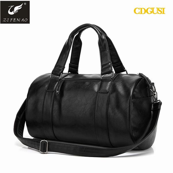50bd576437 2017 New Products Custom Sports Bag PU Leather Duffel Bag Mens Gym Bag  Wholesale China