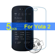 5pcs Ultra Clear LCD Screen Protector Film Cover For Yota Yotaphone 2 Protector Film  +  cloth Free Shipping