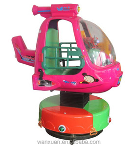 amusement used car kiddie helicopter rides in coin operated games fiberglass toys