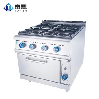 Stainless Steel Commercial Kitchen 4 Burner Gas Cooker 4 Burner Gas Stove with Oven