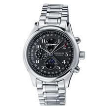 Мужские механические часы s, мужские часы от топ бренда, роскошные часы с датой недели, Луной и фазой, мужские кожаные водонепроницаемые авто...(Китай)