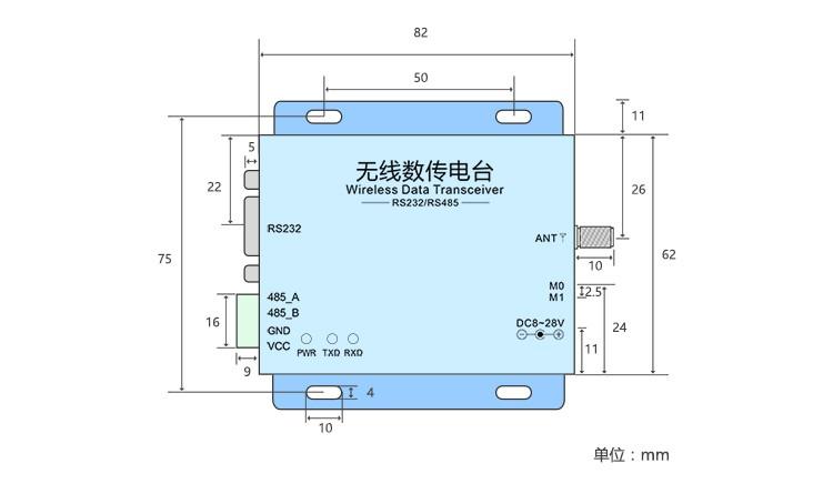 SX1278 UART E32-DTU(433L20) RS232 RS485 433MHz LoRa Remote Wireless ...