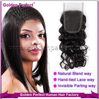 Malaysian virgin hair invisible part 4x5 remy lace front closure piece