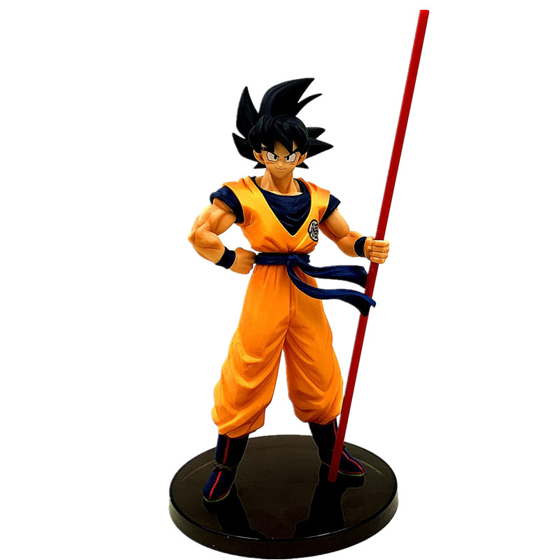 Custom goedkope hot speelgoed collectie dragon ball z super saiyan son goku action figure