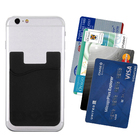 silicone 3-M adhesive stick-on ID credit card wallet phone case pouch sleeve pocket